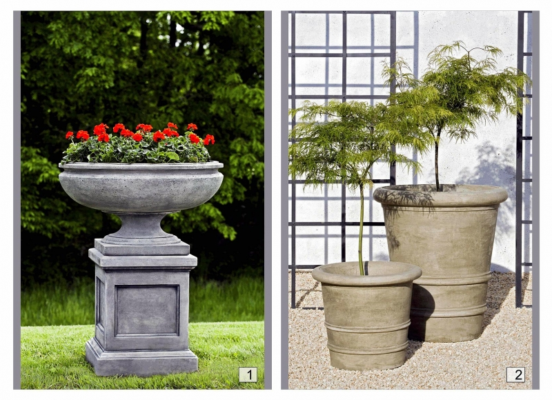 Cast Stone Containers
