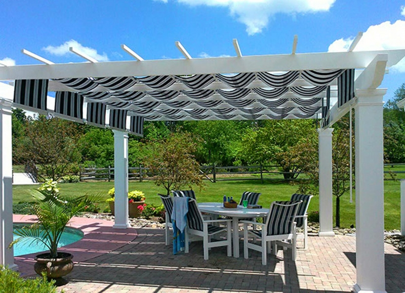 Trex Pergola with ShadeTree Canopy